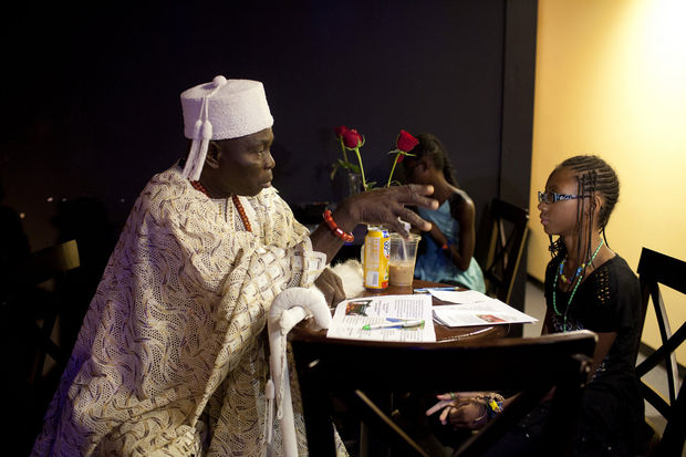Nigerian king speaks with Flint leaders about community development, social issues